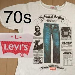 Leviand039s 70and039s Vintage T-shirt Size L The Original Shrink To Fit Blue Jeans