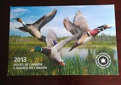 2013 Ducks Of Canada Fine Silver Coin Set With Duck Call Royal Canadian Mint...