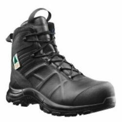 Haix Black Eagle Safety 55 Mid, Side-zip, Mens Boots, Black, 10.5 620012xw-10.5