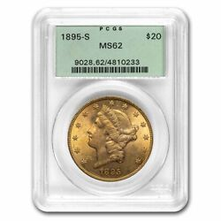 1895-s 20 Liberty Gold Double Eagle Ms-62 Pcgs Ogh - Sku232361