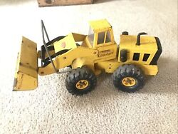 Vintage 1970's Tonka Toys Pressed Steel Yellow Mighty Loader