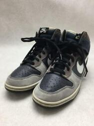 Nike Sb Dunk Sb High Un-futuras 28cm Leather Navy Size 28cm Sneakers From Japan
