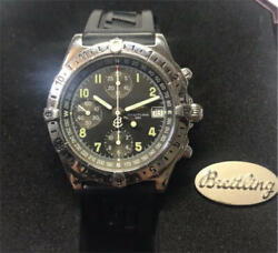Auth Breitling Watch Chronomat Gmt Longitude A20048 9321 Ss Case 39mm At F/s