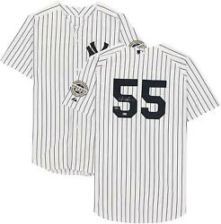Hideki Matsui Yankees Signed White Authentic Jersey With Inaugural Season Patch