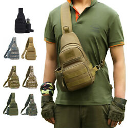 Waterproof Military Tactical Cycling Sling Crossbody Backpack with Kettle Pocket $5.99