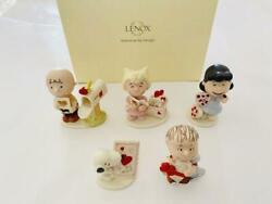 Unused Lenox Snoopy Ornament Interior Figure 5-piece Set Shipping From Japan