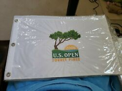 2008 U.s. Open White Embroidery Official Pin Flag Torrey Pines Golf Club Tiger