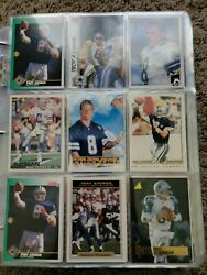 Assorted Football/baseball Cards- 1990's Some Older Entire Album 80+ Pages