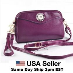 Snap Jewelry Plum Leather Wristlet Purse Bag Fits 18 20mm Ginger Snaps Quality $19.99