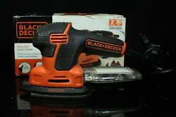 Black+decker Andreg Detail Sander 1.2 Amp Compact Electric With Dust Kit