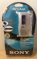 Sony Pressman M-655v Voice Activated Microcassette Recorder New