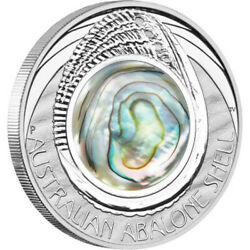 2014 Australian Abalone Shell 1 Oz Silver Proof With Box And Coa