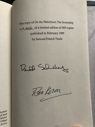 On The Waterfront - Signed Limited Screenplay By Budd Schulberg And Elia Kazan