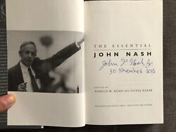 The Essential John Nash Signed By John Nash First Edition 1st Printing 2002