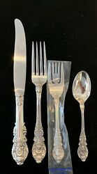 Sterling Flatware Set For 8 True Dinner Sir Christopher By Wallace 32 Pcs.
