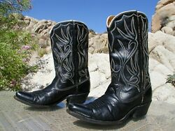 Acme Pee Wee Style Size 5 1 2C Womens Black Leather Cowboy Boots $50.00