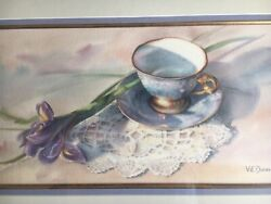 Watercolor By Texas Artist Vie Dunn-harr Framed 17andrdquox27andrdquo Signed
