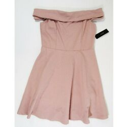Lulus Pink Off Shoulder Women#x27;s Cocktail Dress Size L NEW WITH TAGS $29.00