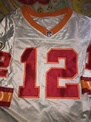 Tampa Bay Buccaneers Tom Brady Wilson Size 48 Jersey White Creamsicle Red