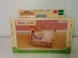 Sylvanian Families Baby Crib 2929 New Sealed Box Bed Furniture Drawers Bedding