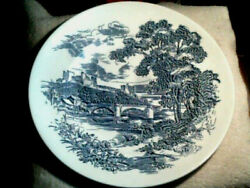 Vintage China Enoch Wedgewood And Company Countryside Dinner Plate Blue White 10andrdquo