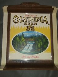 Vtg Olympia Beer Pale Export Advertising Bar Wall Sign Itand039s The Water Plastic