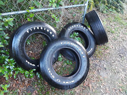 John Wick Ford Mustang 429 Fastback Firestone Black Oval 15 Inch Tires. Set Of 4