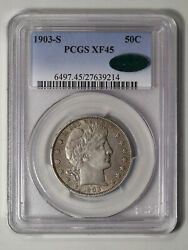 1903-s Barber Half Dollar Pcgs And Cac Xf-45. Pop 5 At Cac