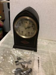 Antique Seth Thomas Cabinet Mantle Clock Not Running- Hand Is Broken- W/ Pieces
