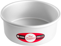 Fat Daddios Anodized Aluminum Round Cake Pan 7 X 3 Inch, Silver