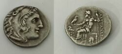 Original Rare Alexander The Great Silver Coin With Athena Head Macedonia Greek
