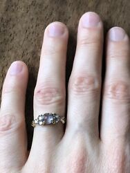 """Digby And Iona Size 6.5 """"nico"""" 18k Gold Diamond And Sapphire Ring"""
