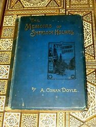 The Memoirs Of Sherlock Holmes By A Conan Doyle. 1894 1st Edition Gilt Edging