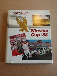 Vintage Nascar Yearbook 1988 Bobby Allison Signed Autographed Rare