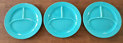 Vintage Fiesta Divided Compartment Grill Plate, 10-1/2, Turquoise