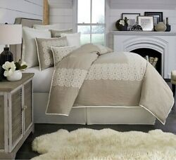 New Southern Living Townsend Embroidered Duvet Mini Set Queen