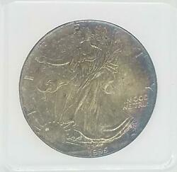 1995 American Silver Eagle Ase Silver   Toned Toning