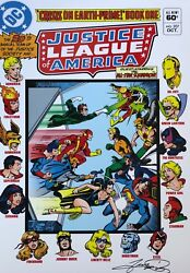 George Perez Rare Justice League 207 Print Signed 12x18 Classic Cover Last Two