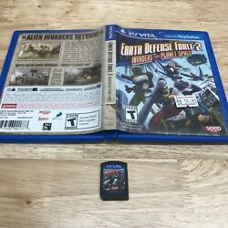 Earth Defense Force 2 Invaders From Planet Space Playstation Ps Vita W/ Case