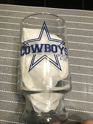 Dallas Cowboys 4 Vintage Sports Bar And Grill Large Beer Glasses Nfl