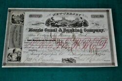 S337,morris Canal And Banking Co,jersey City Nj,1876,nice Vignettes Stock
