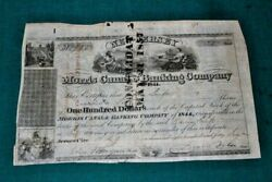 S338,morris Canal And Banking Co,jersey City Nj,1846,nice Vignettes Very Early