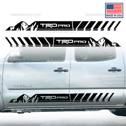 Tacoma Trd Pro Sidedoor Decals Fits Toyota Truck Stickers Stripes Vinyl S1