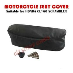 Motorcycle Seat Cover Fits Cl160 Cl 160 Honda Scrambler Inc Seat Strap And Buttons