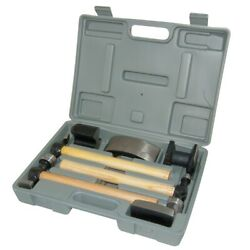 Aes Industries 2720 Hammer And Dolly Set With Wood Handles 7 Pc.