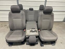 2017-2020 Ford F150 F250 F350 F450 Super Duty Front And Rear Seats Gray Cloth