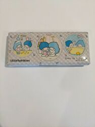 Vintage Sanrio Little Twin Stars Puffy Pencil Case 1976 With Hello Kitty Pencils