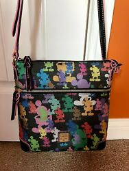Disney Dooney And Bourke Mickey Mouse 10th Anniversary Letter Carrier/crossbodyandnbsp