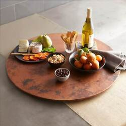 20 Copper Lazy Susan Handhammered Bactericidal Surface For Kitchen