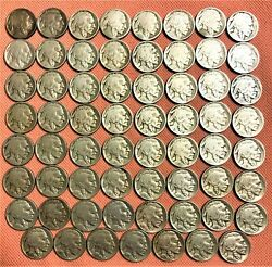 Set Of 63 Buffalo Nickels From 1913-p Ty1 To 1938-d Nice Coins Dansco Album 4